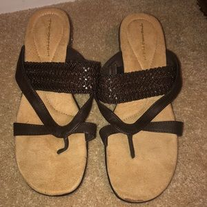 Shoes - BROWN strappy sandals